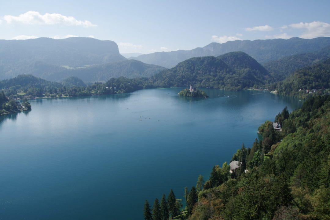 panorama depuis le chateau de Bled