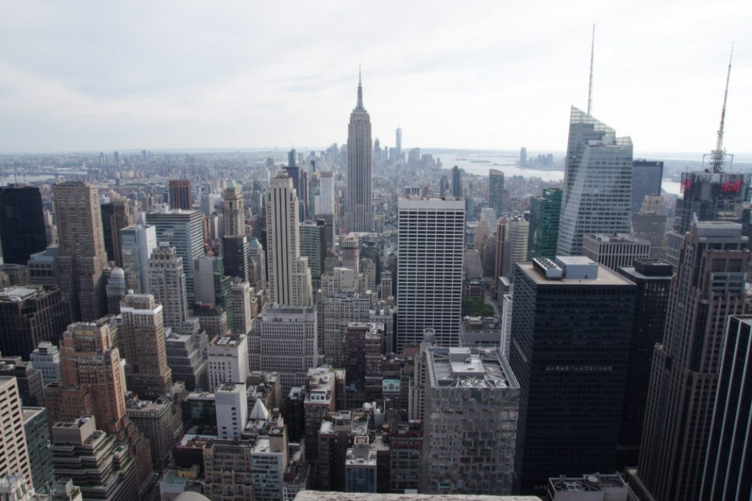 Manhattan et l'Empire State Building vu depuis le Top of the Rock