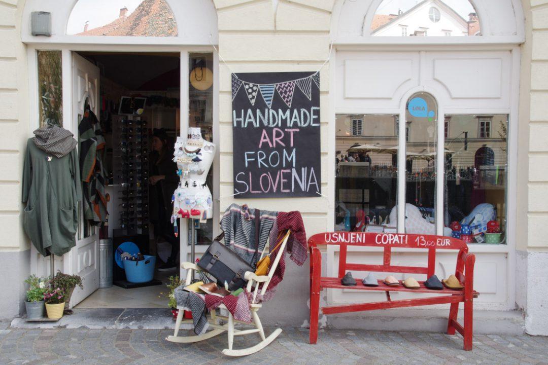 boutique dans le centre ville historique de Ljubljana