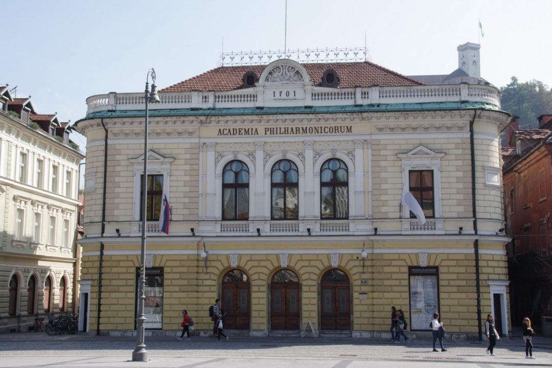 le bâtiment de la philharmonie slovène