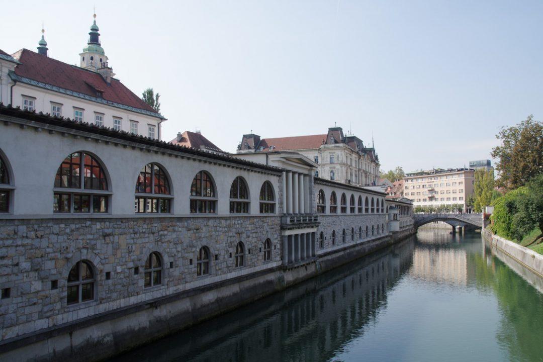 Le marché au bord de la Ljubljanica