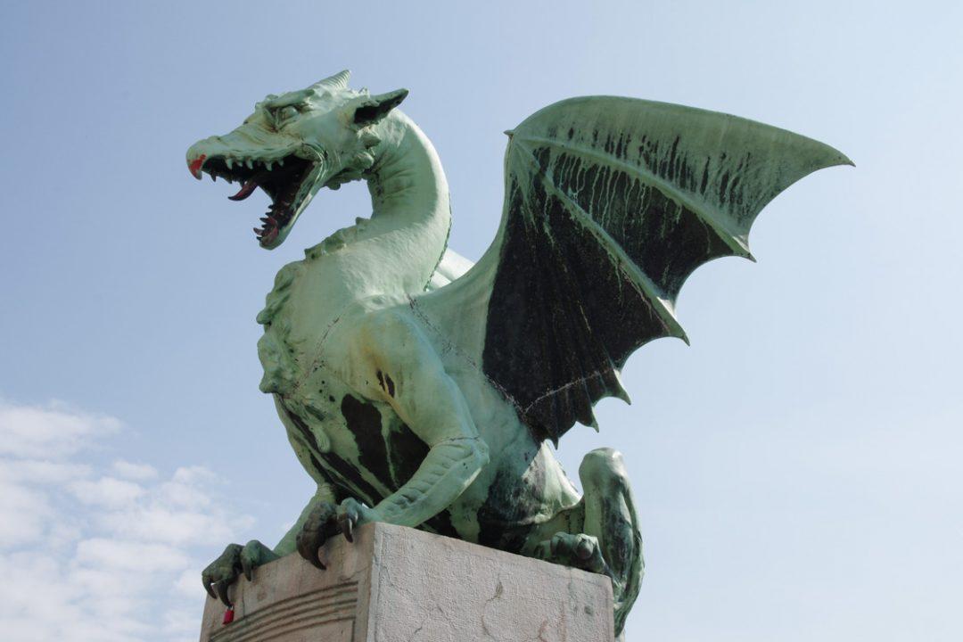 Un des dragons du pont de Ljubljana