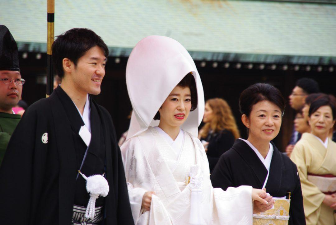 cérémonie de mariage - sanctuaire Meiji Jingu - Tokyo