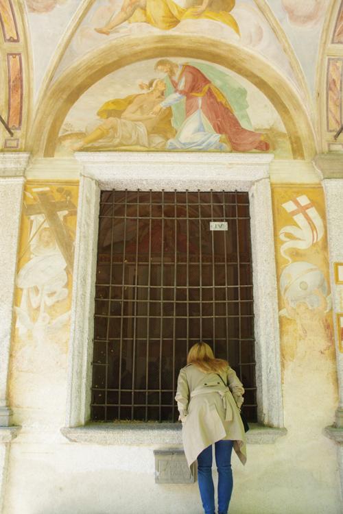 balade devant les chapelles du Sacro Monte d'Orta