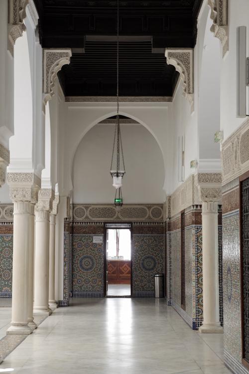 Intérieur de la Mosquée de Paris