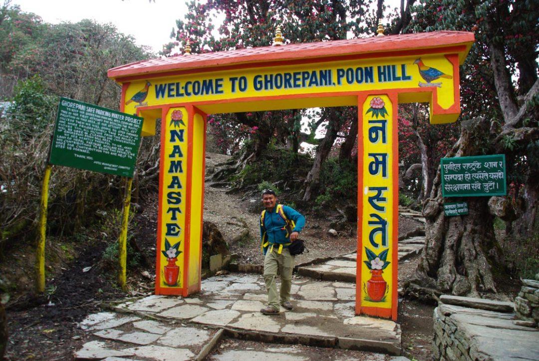 Porte d'entrée pour Ghorepani - Poon Hill