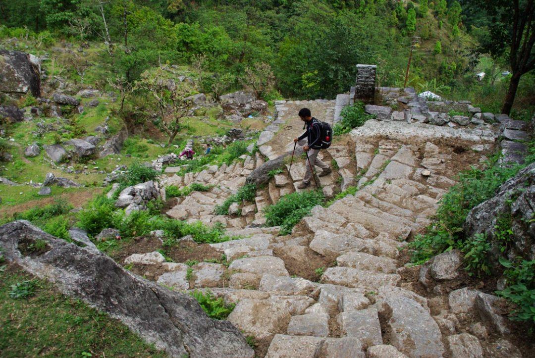 les escaliers de pierre de l'Annapurna