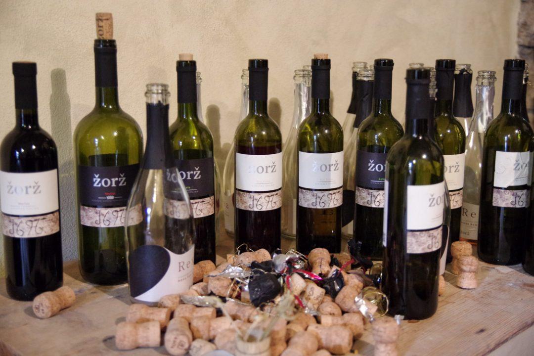 bouteilles de vin zorz