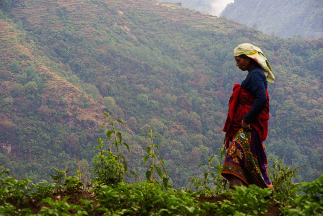 une femme du Népal