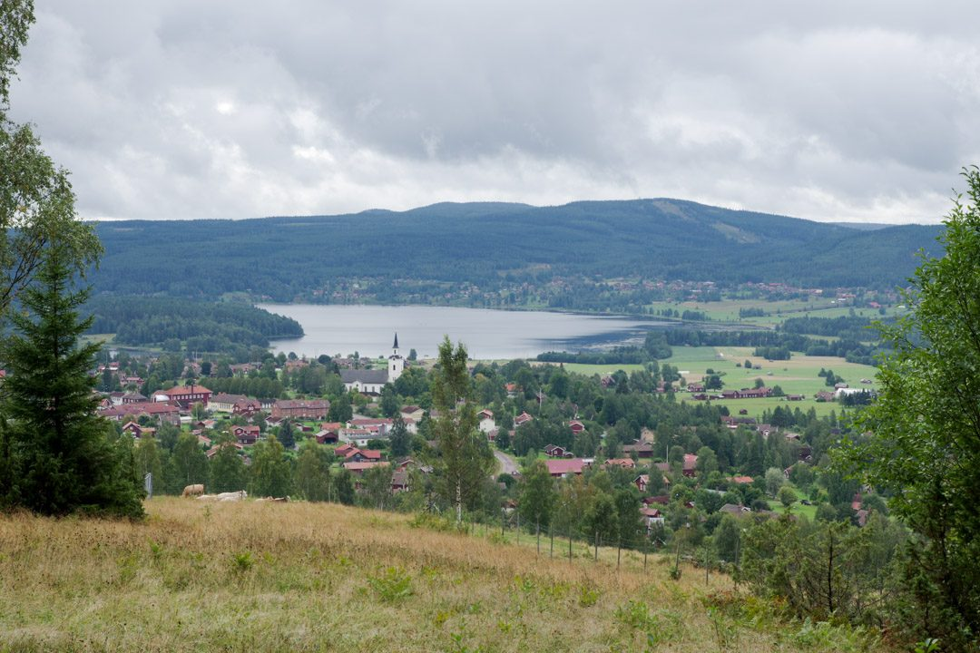 Vue sur la ville de Siljansnäs - Dalécarlie - Suède