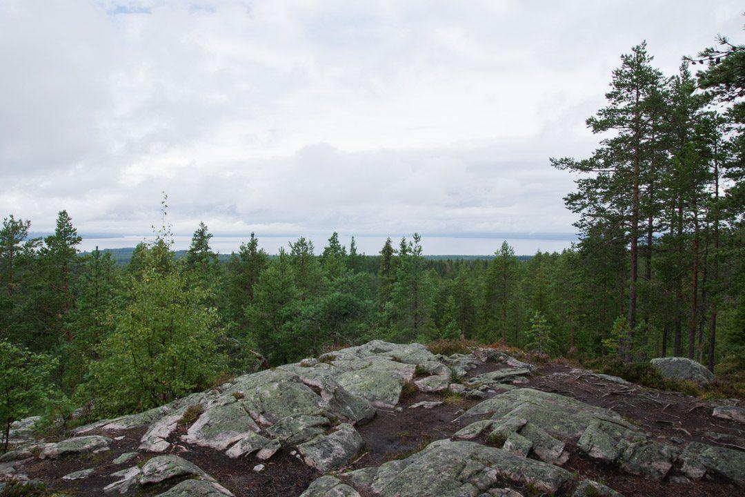 randonnée en Dalécarlie vue sur le lac de Siljan - Suède