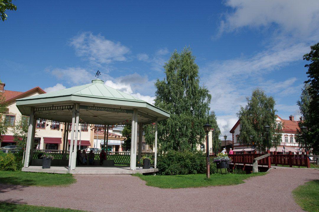 parc dans le centre ville de Leksand