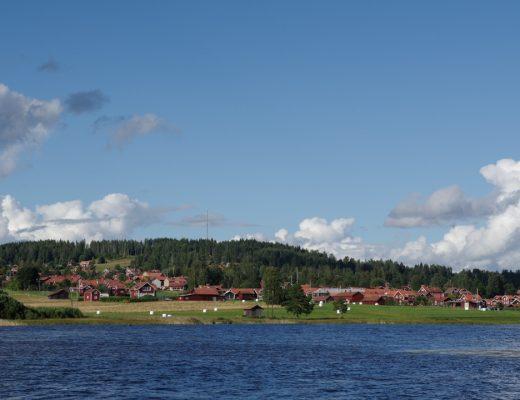 Lac de Siljan - vue sur Siljansnäs - Suède