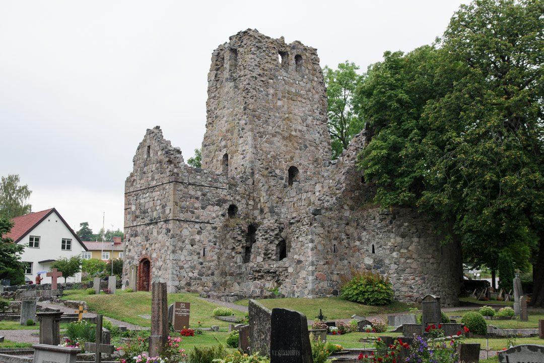 ruines de l'église St Olof - Sigtuna - Suède