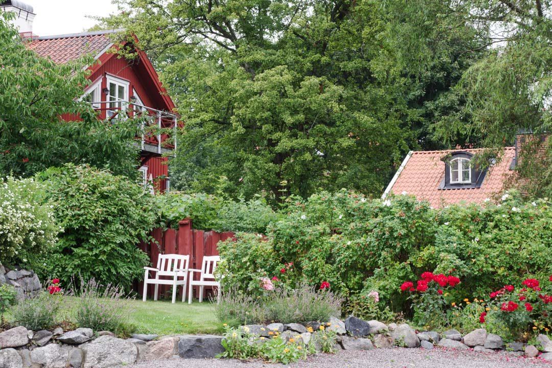 maison suédoise typiqude à Sigtuna