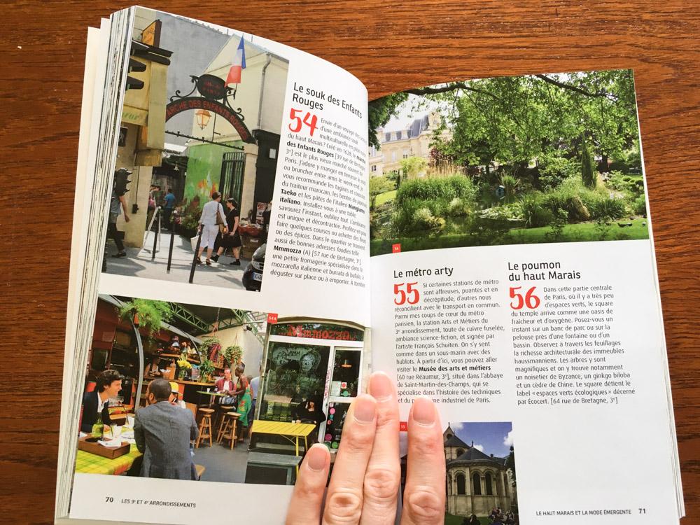 300 raisons d'aimer Paris - intérieur du livre