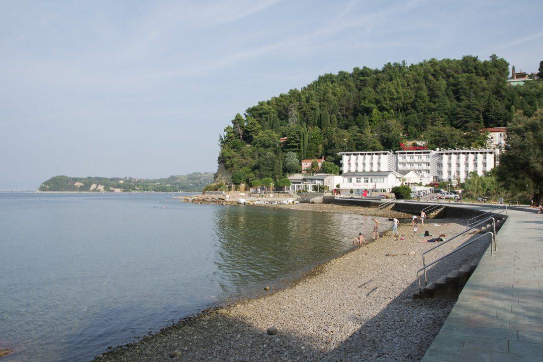 Plage de Fiesa - Piran - Slovénie