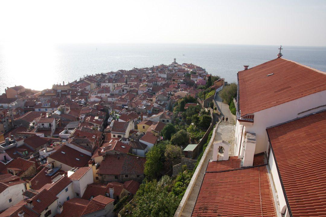 Panorama depuis le campanile de Piran