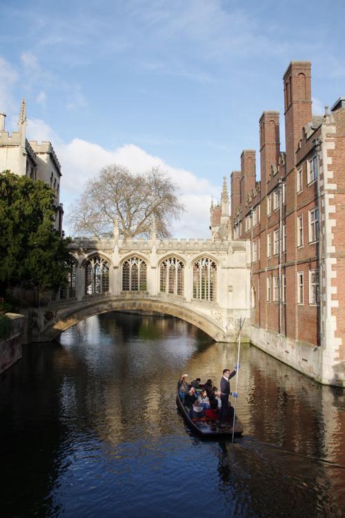 Punting sur la Cam - Pont des Soupirs - Cambridge