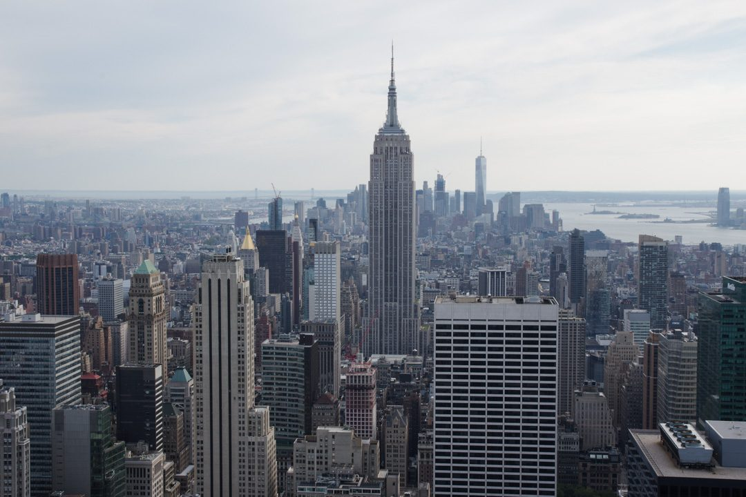 Vue sur l'Empire State Building depuis la plateforme d'observation du Top of the Rock - New York