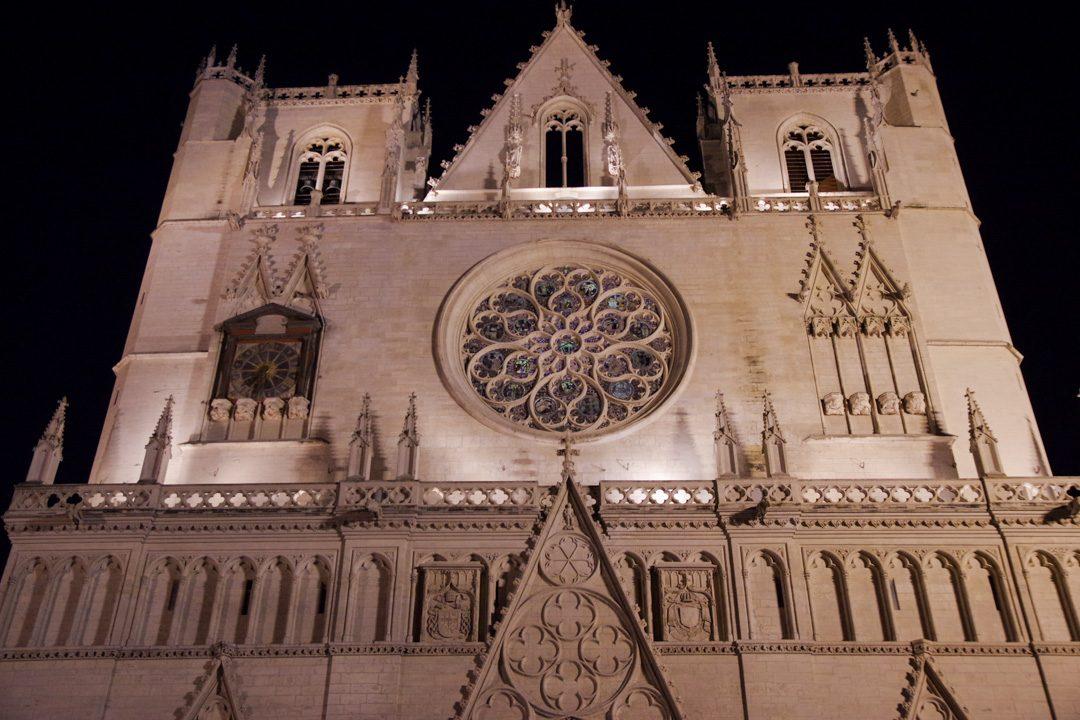 Façade principale de la cathédrale Saint Jean - Lyon