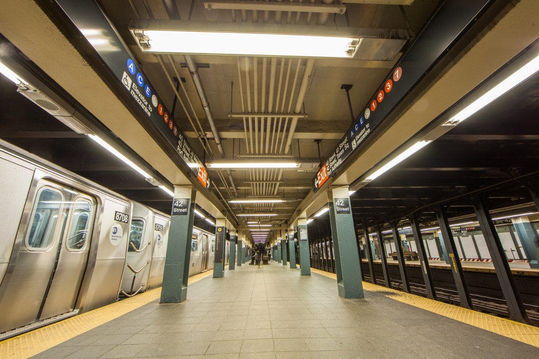 Quai du métro de New York