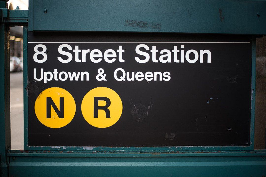 Entrée du métro de New York
