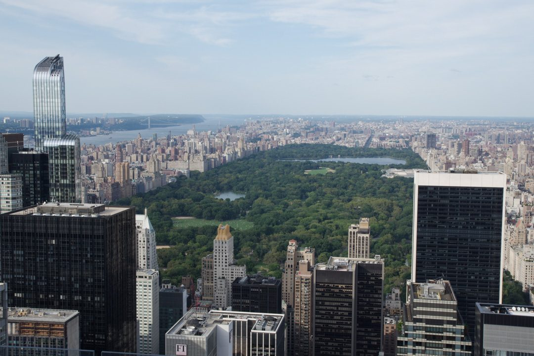 Panorama sur Central Park depuis le Rockefeller Center