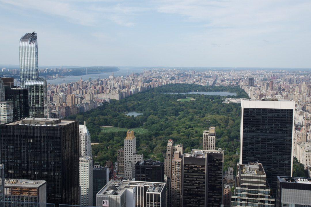 Panorama sur Central Park depuis le Rockefeller Center