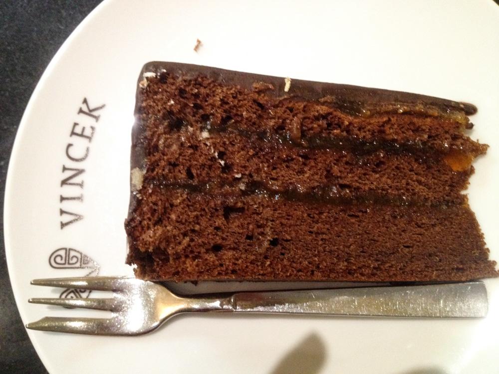 Gateau au chocolat - Patisserie Vincek à Zagreb
