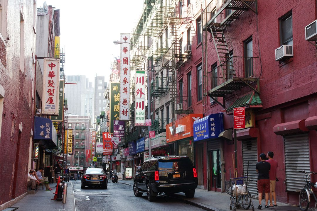 Rue du quartier de Chinatown à New York