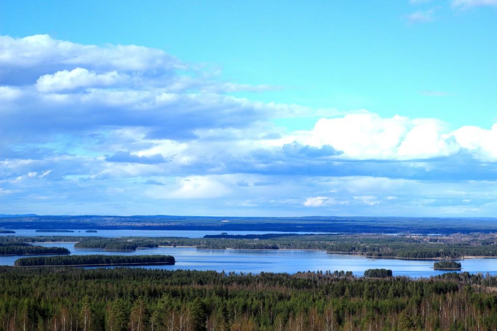 Paysage de Dalécarlie en Suède
