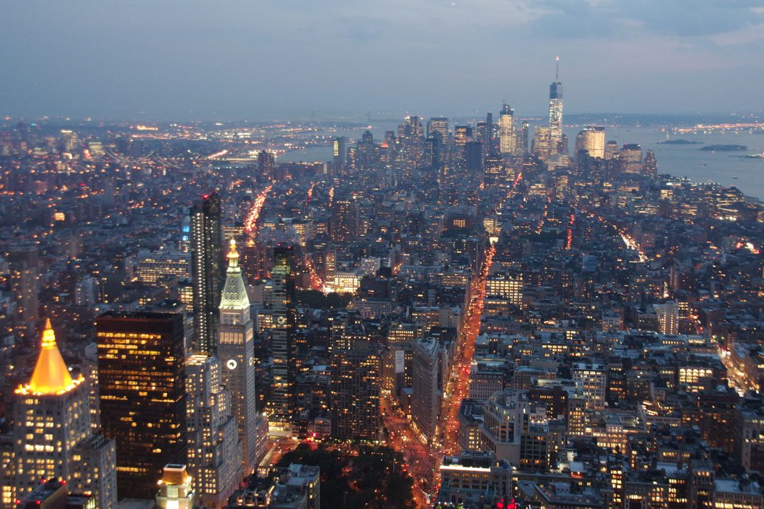 Vue sur Manhattan depuis l'Empire State Building - New York