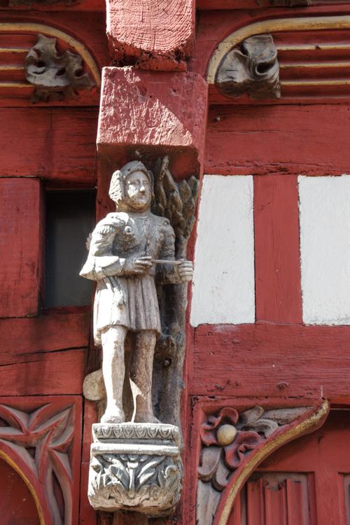 détail d'une maison médiévale à Rennes