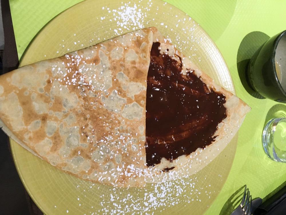 crepe au chocolat - Bayeux