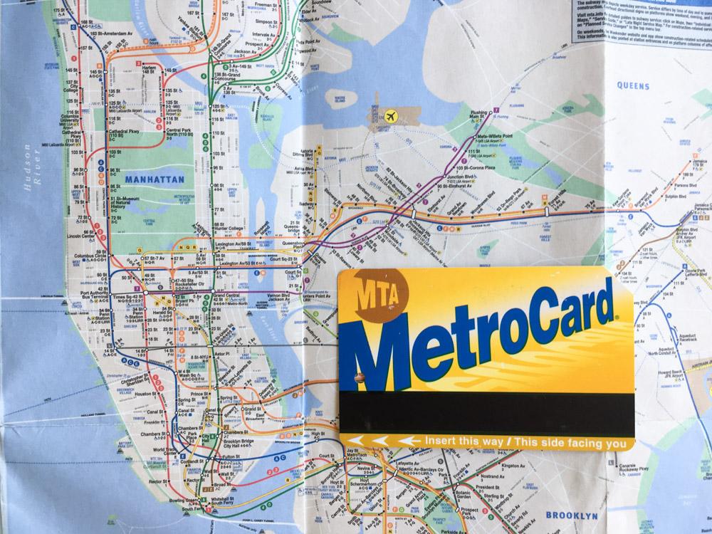 plan metro newyork et metrocard
