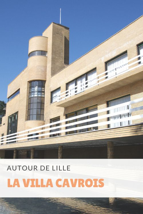 Visite de la Villa Cavrois, entre Lille et Roubais. Une villa moderniste conçue par l'architecte Robert Mallet Stevens pour la famille de 7 enfants de l'industriel roubaisien Paul Cavrois au début des années 1930.