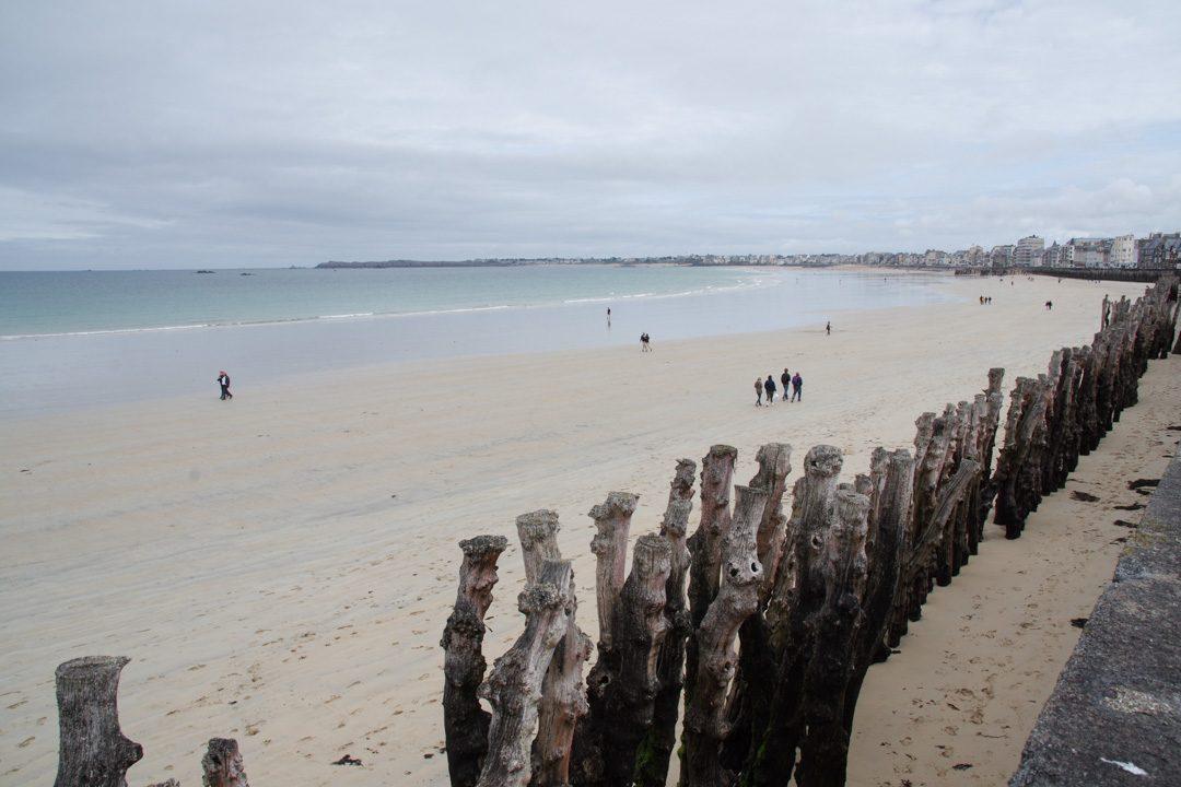 La plage du Sillon à Saint-Malo