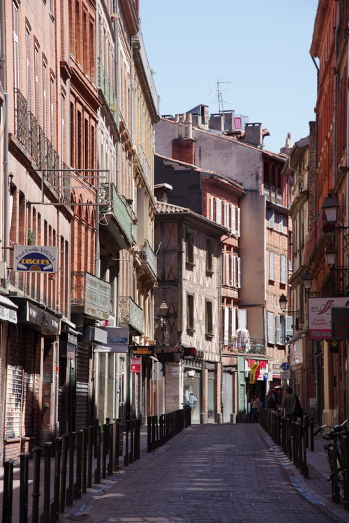 rue dans le centre ville de Toulouse
