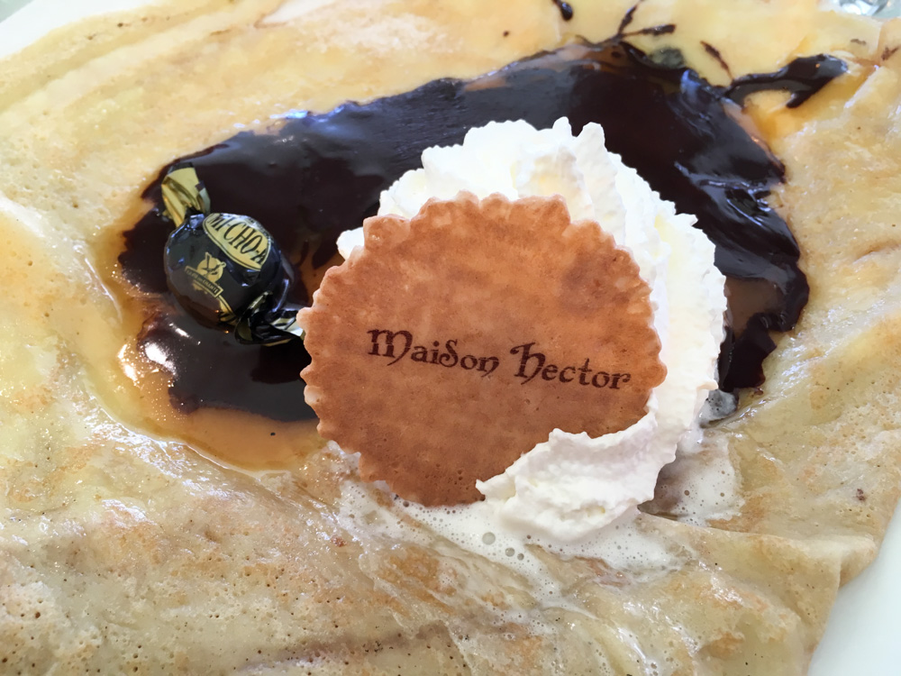 crepe chocolat et caramel au beurre salé