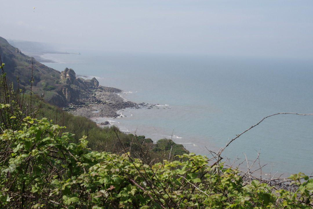Les falaises au niveau de Longues sur Mer