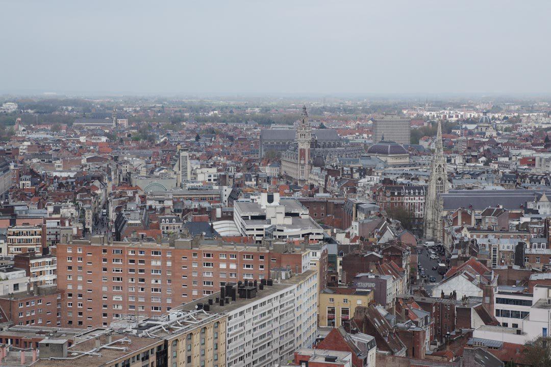 Vue depuis le sommet du Beffroi de Lille