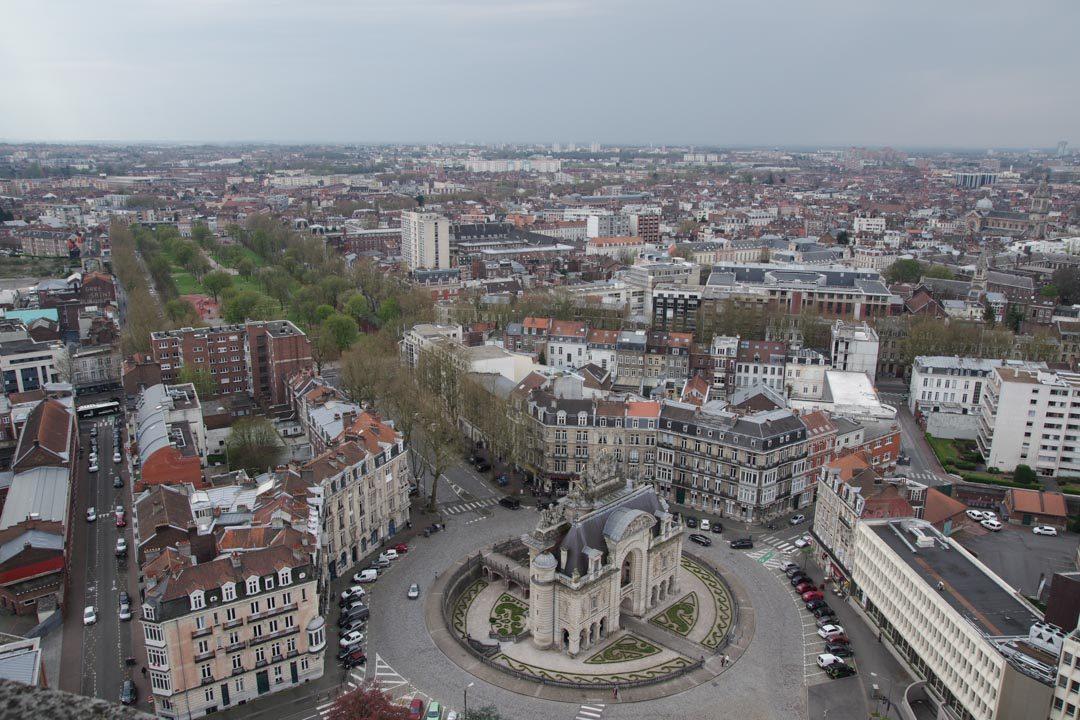 Panorama en haut du beffroi de Lille