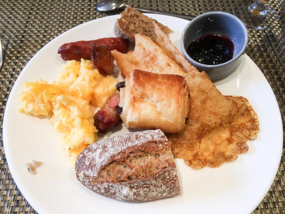 l'assiette de mon petit-déjeuner