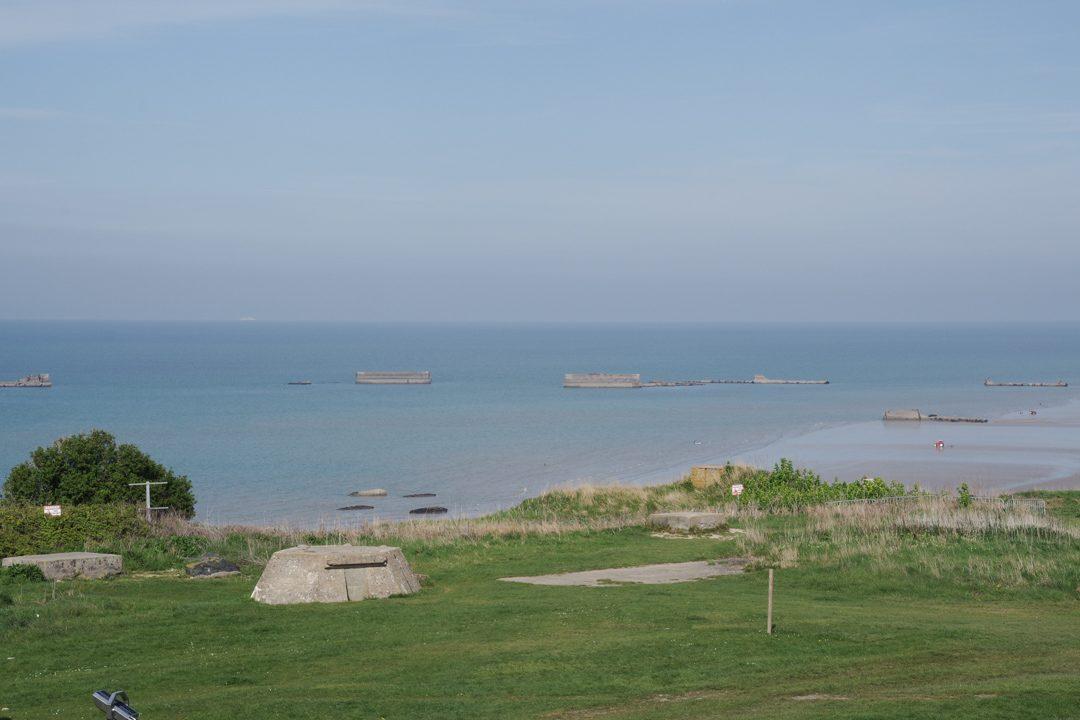 Panorama sur le port artificiel d'Arromanches