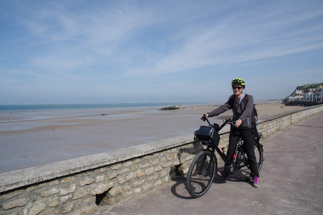 a vélo à Arromanches
