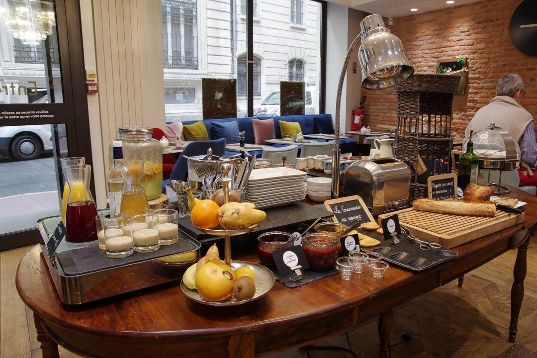 Buffet petit déjeuner à l'hotel Albert 1er