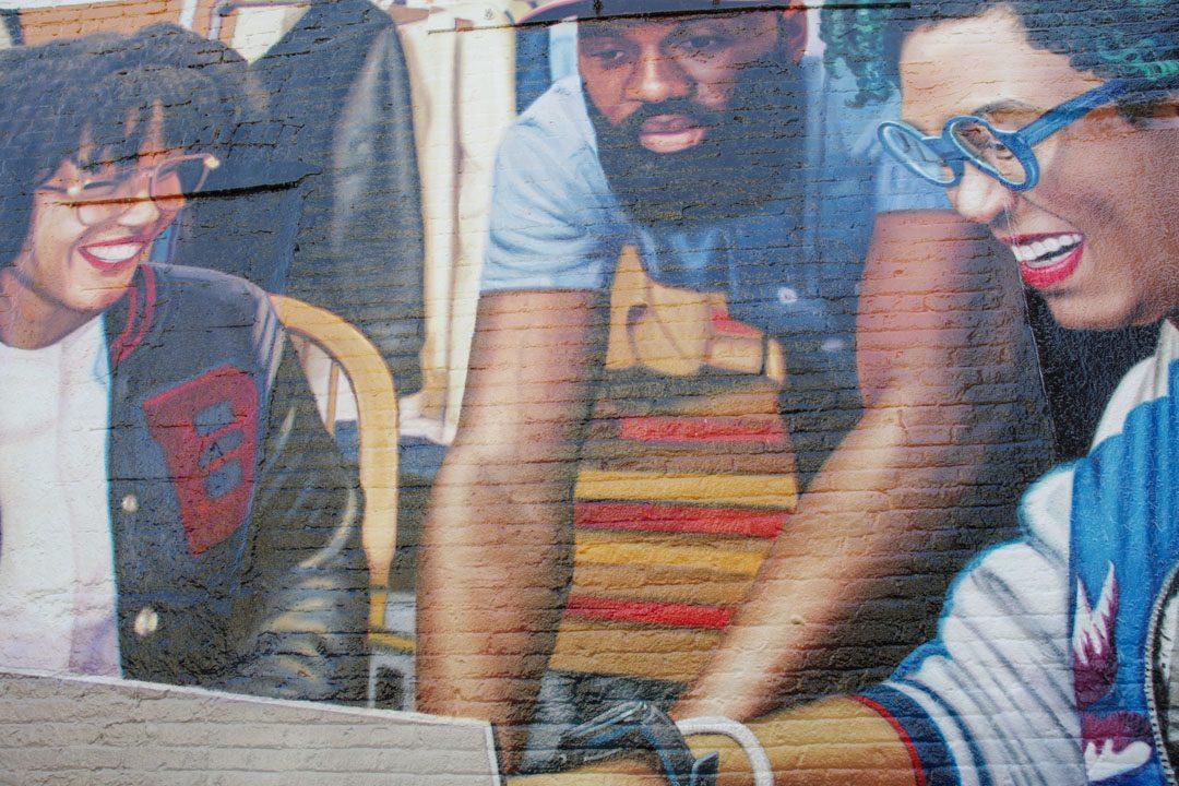 publicité microsoft en street art