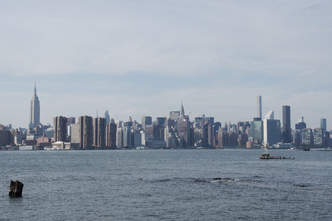 La vue sur Manhattan depuis l'East River State Park