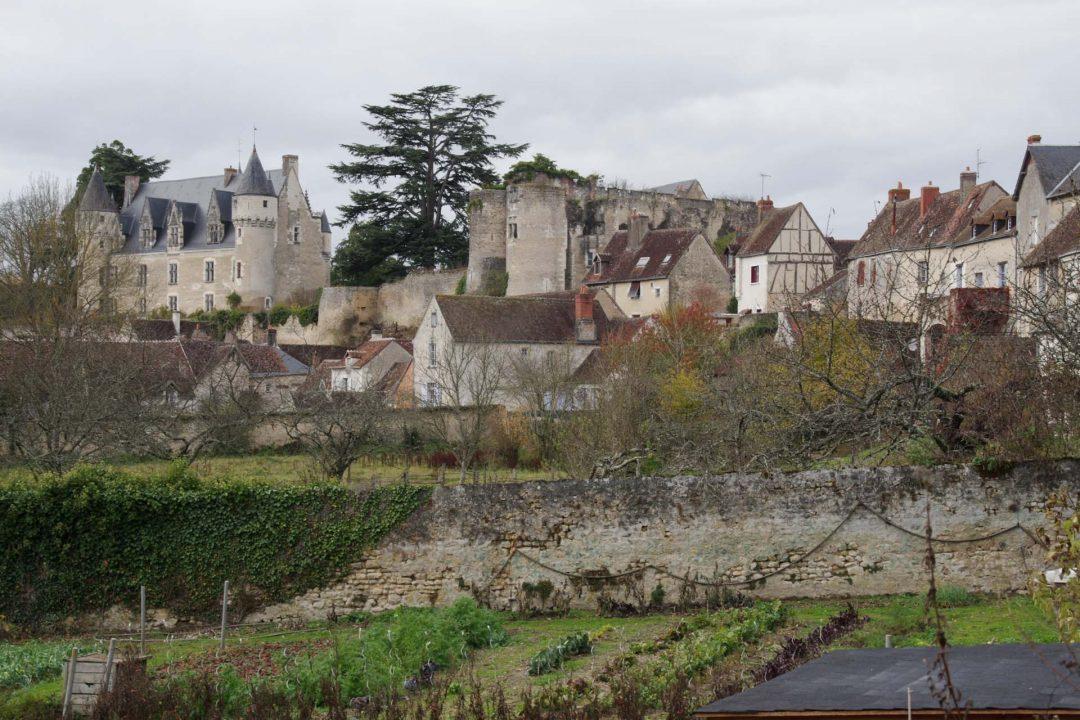 Vue sur le village de Montrésor en Indre et Loir